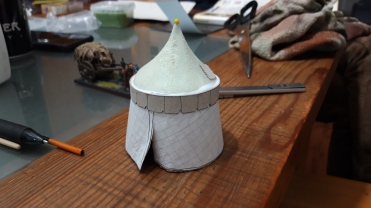 28mm medieval tent